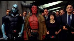 Von links: Gräte, der Band-Dealer, Höllroy himself, seine flammende the Cure-Freundin, und der Band-Manager.